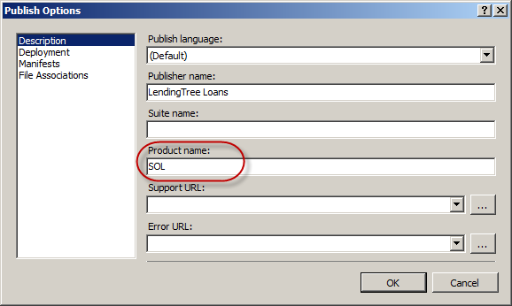 ClickOnce Deployment – Deploying multiple versions of the
